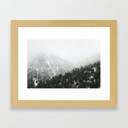 Mt. Baldy in the Winter Framed Art Print