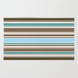 Perfect Line Collection - Browns & Blues Rug