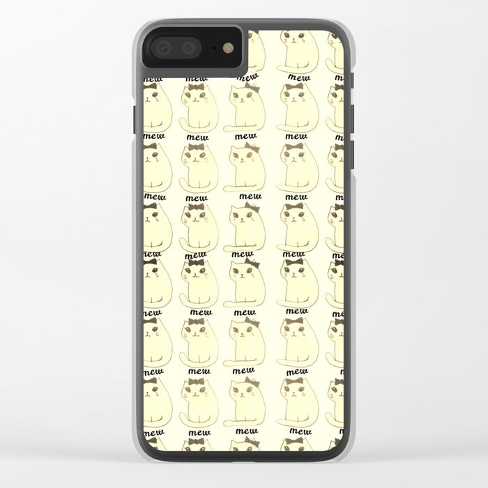 cats-27 Clear iPhone Case
