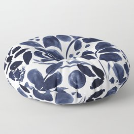 Navy Floral Floor Pillow