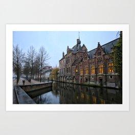Belgium, City Canal 9 Art Print