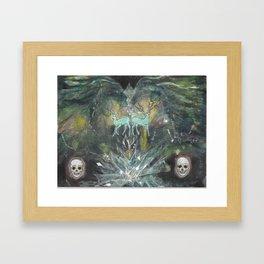 gemini nebula Framed Art Print