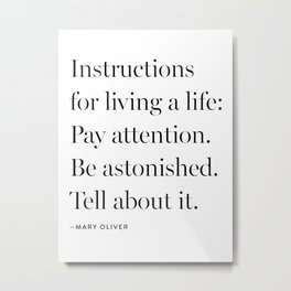 Mary Oliver Metal Print