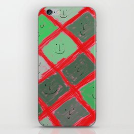 Cute pattern with smiling faces iPhone Skin