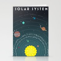 solar system Stationery Cards featuring Solar System by scarriebarrie