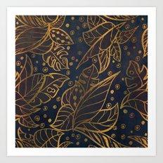 midnight jungle Art Print