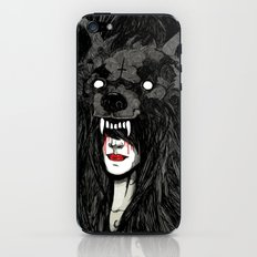 of wolf and men iPhone & iPod Skin
