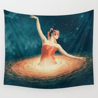 nan lawson Wall Tapestries featuring Prima Ballerina Assoluta by Paula Belle Flores