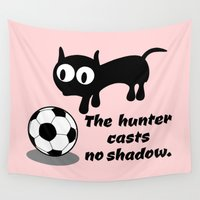 football Wall Tapestries featuring Cat Football by mailboxdisco