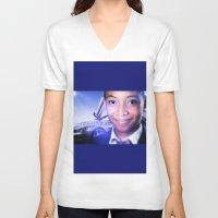model V-neck T-shirts featuring Model by Azeez Olayinka Gloriousclick