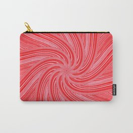 Red and Pink Pinwheel Carry-All Pouch