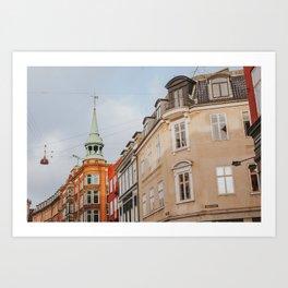 Copenhagen in Winter Sun Art Print