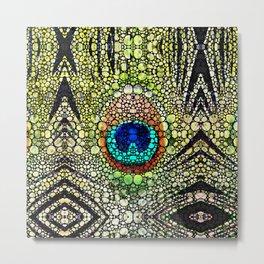 Peacock Feather Pattern - Stone Rock'd Art by Sharon Cummings Metal Print