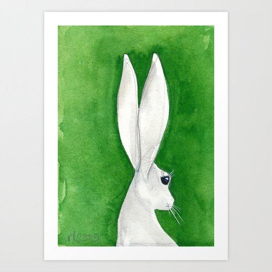 tenzin rabbit Art Print