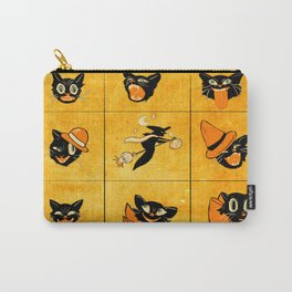Halloween Vintage Cat Faces Carry-All Pouch