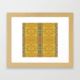 Boujee Boho Elegant Golden Charm Framed Art Print