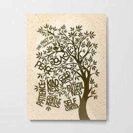 Fruit of the Spirit (Monotone) Metal Print