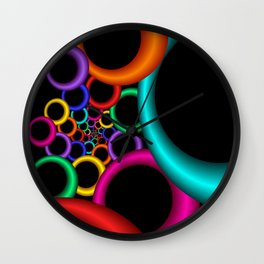 nice colors on black -11- Wall Clock