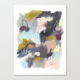 Abstract Boreal Landscape Painting Canvas Print