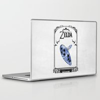 majora Laptop & iPad Skins featuring Zelda legend - Ocarina of time by Art & Be