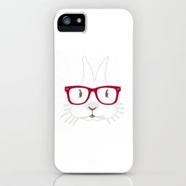 Easter Day T-Shirt Adorable Hipter Glass Bunny Tshirt iPhone Case