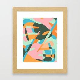 Monstera Leaves Framed Art Print