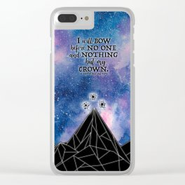 ACOMAF - Bow before no one Clear iPhone Case