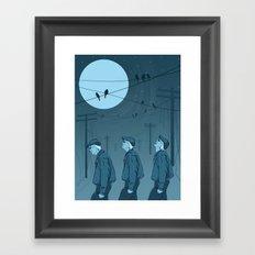 Birds and Men Framed Art Print