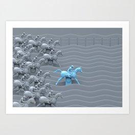 Carnival Horse Racing Game Art Print