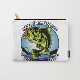 Grandfather Gift Fish Design- Retired Fishing Father's Day Carry-All Pouch