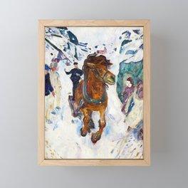 Galloping Horse by Edvard Munch Framed Mini Art Print