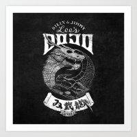Double Dragon Dojo Art Print