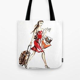 Travel Girl Tote Bag
