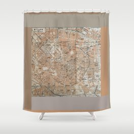Milan, Italy / Milano, Italia antique map Shower Curtain