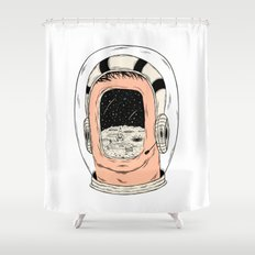 From the Earth to the Moon Shower Curtain