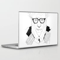 woody allen Laptop & iPad Skins featuring Woody Allen by lena kuzina