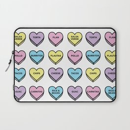 Baesic Candy Hearts - Mexican Food Laptop Sleeve