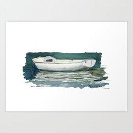 Quai de la Loire - Paris XIXe Caravelle Art Print