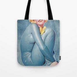 Art Deco Latex Pinup Girl Tote Bag