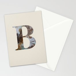 Letter 'B' Monogram with Abstract Art Stationery Cards