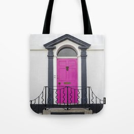 in through the pink door… a splash of colour for the front entrance door Tote Bag