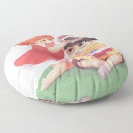 Ponyo loves Sosuke Floor Pillow
