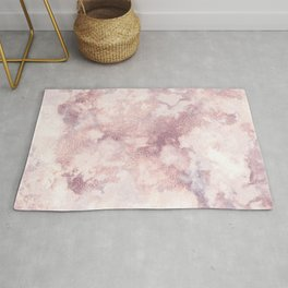 Elegant rose faux gold pink gray luxury marble pattern Rug
