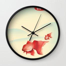Japan Goldfish Wall Clock