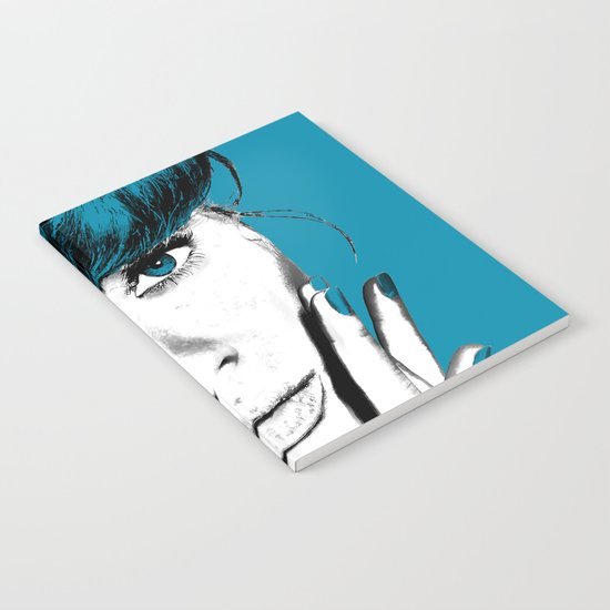 Woman with Blue Eyes Notebook