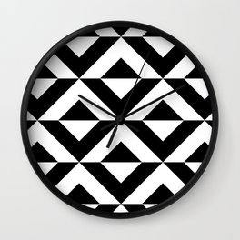 BLACK AN WHITE ONYX Wall Clock