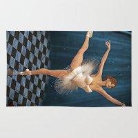 ballerina Area & Throw Rugs featuring ballerina by Ancello