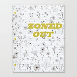 Zoned Out II - With Text Canvas Print
