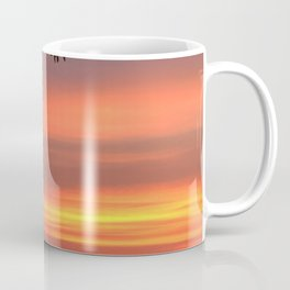 Tropical Sunset in Purple through Trees.  Coffee Mug