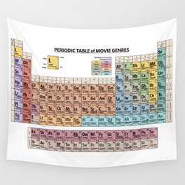 Periodic Table Of Movie Genres Wall Tapestry